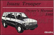 manual repair free 1995 isuzu trooper on board diagnostic system 1995 isuzu trooper air bag repair shop manual supplement original
