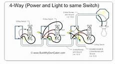 hook up two light switches one power source how to wire two separate switches lights using