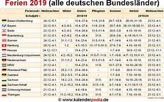 Ferien 2019 In Deutschland Alle Bundesl 228 Nder