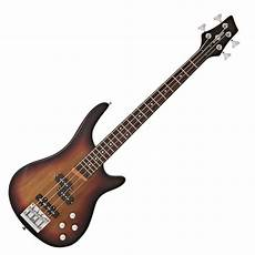 chicago scale bass guitar by gear4music sunburst at