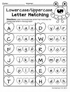free alphabet matching worksheets for kindergarten february printables kindergarten literacy and math