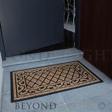 Black Rubber Door Mats Outside by Doormat 45x90 Cm Coir Flower Heavy Duty Entrance