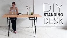 Simple Work Desk by Diy Standing Desk