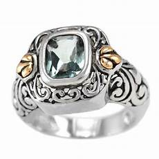 sterling silver emerald cut blue topaz bali jewelry