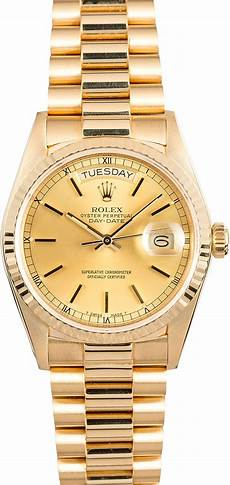 rolex day date presidential 18038 gold
