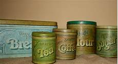 vintage kitchen canisters sets vintage metal kitchen canisters set of 5 by nostalgicnesthome