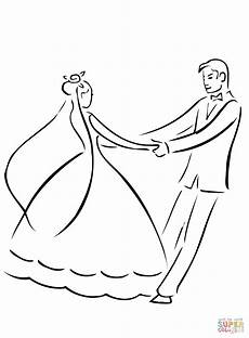 wedding coloring page free printable