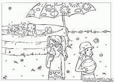 malvorlagen jahreszeiten sommer