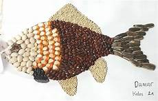 Kolase Biji Bijian Ikan Kumpulan Montase Kolase Dan Mozaik