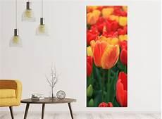 leinwandbilder blumen leinwandbilder 1tlg 40x100cm blumen tulpen gelb rot tulpe