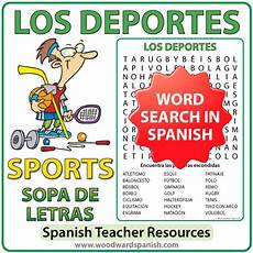 sport en espagnol sports word search los deportes