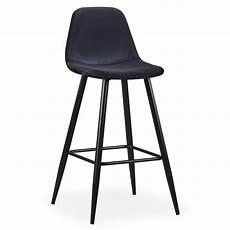 chaise haute de bar velours noir kofy lot de 4