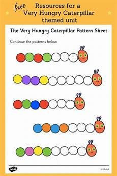 free very hungry caterpillar color pattern sheet find lots of very hungry caterpillar and other