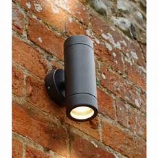 black up down outdoor wall light