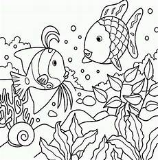 fish in the pond colouring page picolour