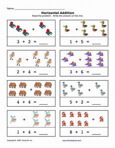 addition worksheets horizontal 8877 12 best horizontal addition images on math addition preschool and free worksheets