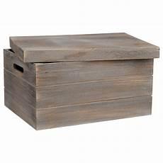 grande caisse en bois avec couvercle bouclair