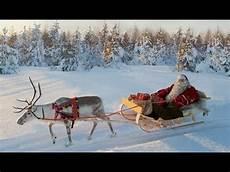 rentierschlittenfahrt des weihnachtsmannes lappland