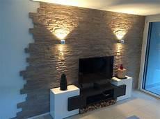 natursteinoptik lascas wandgestaltung wohnzimmer