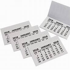 2018 Calendar Tabs Insert Tabs White Mini Calender Tear