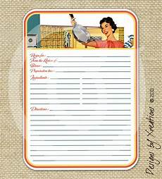 5x7 recipe card template free retro blank recipe card digital template 5x7 inches