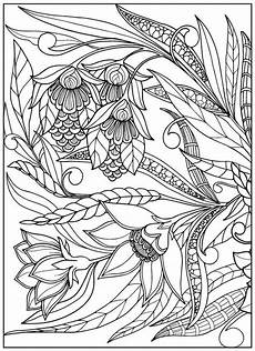 vintage flower coloring pages on behance adult colouring flowers pinterest coloring
