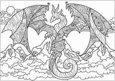 ausmalbilder f 252 r erwachsene drachen vorlagen zum