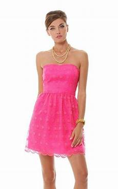 nwt msrp 278 lilly pulitzer payton sweetheart strapless dress pop pink size 2 ebay