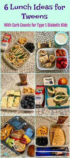 6 lunch ideas for with carb counts for type 1 diabetic kids school lunch ideas for