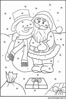 ausmalbild vom weihnachtsmann zum kostenlosen ausdrucken
