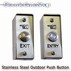 Klingelknopf Edelstahl Aufputz - exterior stainless steel entry exit button with reversible