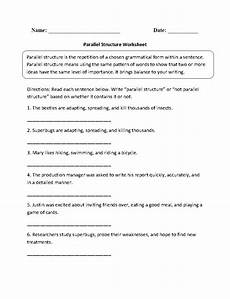englishlinx com parallel structure worksheets