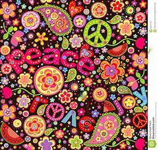 Hippie Colorful Wallpaper With Watermelon Stock Vector