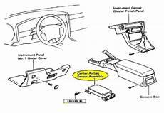 airbag deployment 2012 lexus rx parental controls air bag crash sensor module removal elv solutions