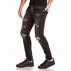 jean slim homme troué 84060 jean locker jean noir homme destroy trou 233 d 233 lav 233 slim fit gris urbanlocker