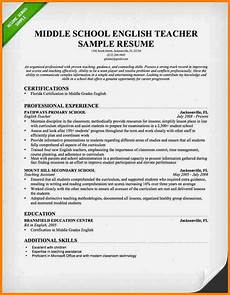 resume of teacher exle 11 english application letter exle penn working papers