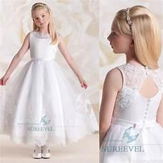 Blanc Robe De Communion Princesse Fille Mariage Robe