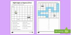 right angles as degrees of turn worksheet worksheet learning from home