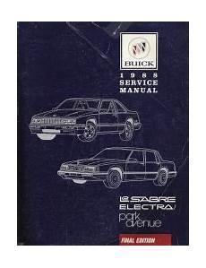 1989 buick lesabre electra park avenue body repair shop manual original 1988 buick lesabre electra and park avenue factory service manual