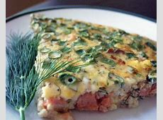 crustless salmon quiche_image