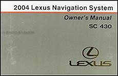 where to buy car manuals 2004 lexus is electronic throttle control 2004 lexus sc 430 navigation system owners manual original