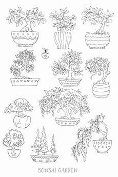 2 printable succulent bonsai coloring pages journal