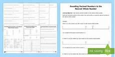 rounding decimals worksheet canadian elementary resource