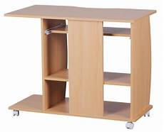 computertisch buche finebuy computertisch buche mit rollen 90 cm 37499