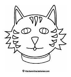 Katzengesicht Malvorlage Animals Coloring Sheet Cat Mask Picture Free Printable