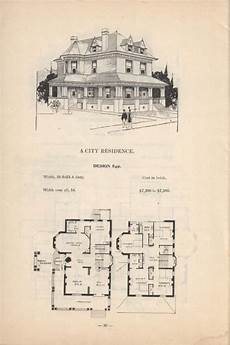 vintage victorian house plans artistic city houses no 43 victorian house plans city