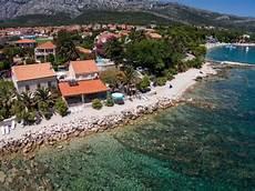 ferienhaus orebic mit pool direkt an strand dalmatien
