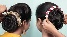 2 easy bun hairstyles with trick for wedding party hair