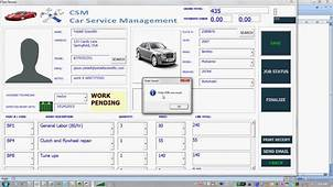 Car Service Software For Microsoft Excel  YouTube