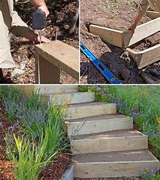 step by step diy garden steps and stairs the garden glove
